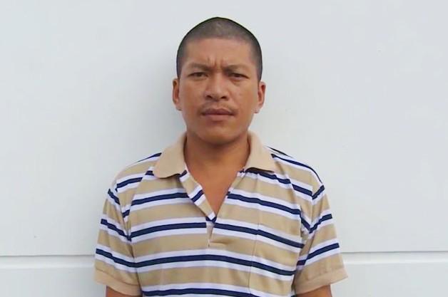 Đối tượng Huỳnh Hữu Đức tại CSĐT, công an huyện Vĩnh Thuận.