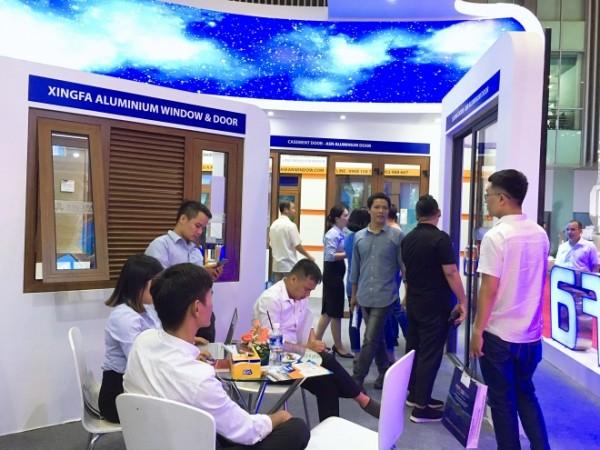 Gian hàng Nhôm Xingfa Quảng Đông tại triển lãm quốc tế Vietbuild 2018.