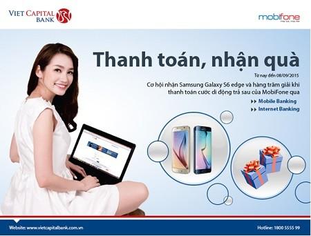 Thanh toán hóa đơn trực tuyến, nhận ngay Samsung Galaxy S6 Edge