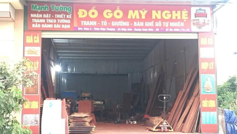 Kinh Môn, Hải Dương: Xưởng gỗ trái phép bao giờ xử lý dứt điểm?