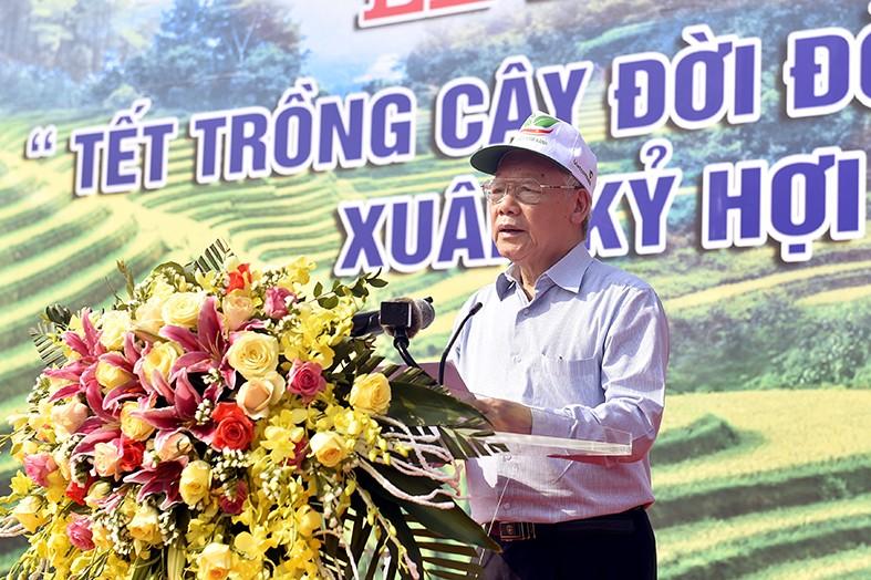Tổng Bí thư, Chủ tịch nước Nguyễn Phú Trọng phát động Tết trồng cây - Ảnh 2