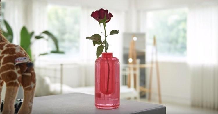 Độc đáo bình hoa có thể chữa cháy của Samsung
