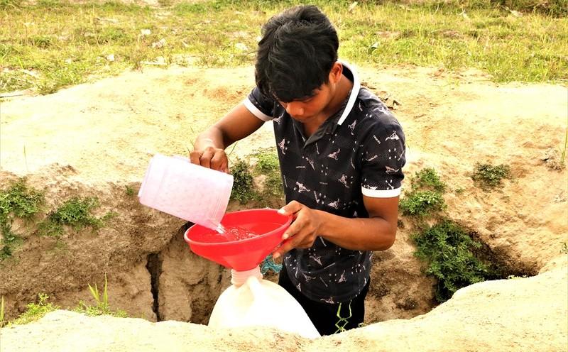 Diệu kỳ giếng nước 'trời ban' giúp nông dân An Giang vượt mùa khô hạn