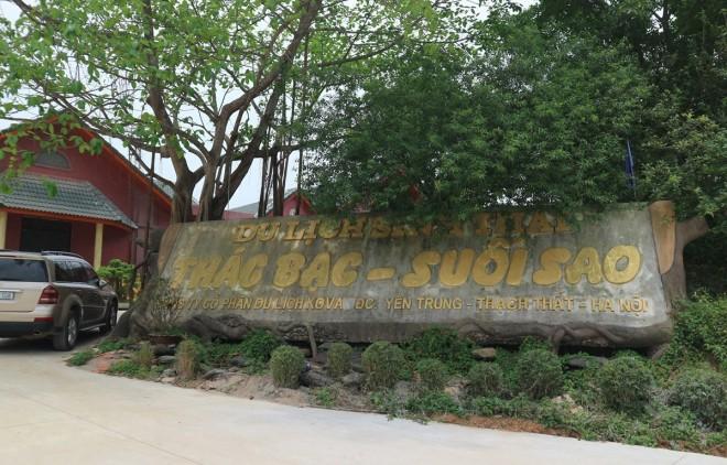 Cải tạo, xây dựng dự án khu du lịch sinh thái Thác Bạc – Suối Sao: Chính quyền và doanh nghiệp kiên quyết giải quyết các vi phạm và vướng mắc - Ảnh 1