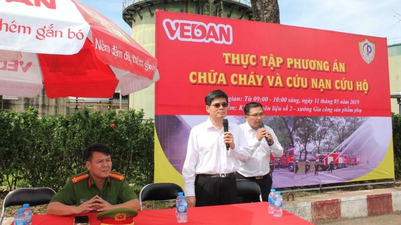Vedan Việt Nam tham gia diễn tập PCCC và cứu nạn cứu hộ quy mô lớn