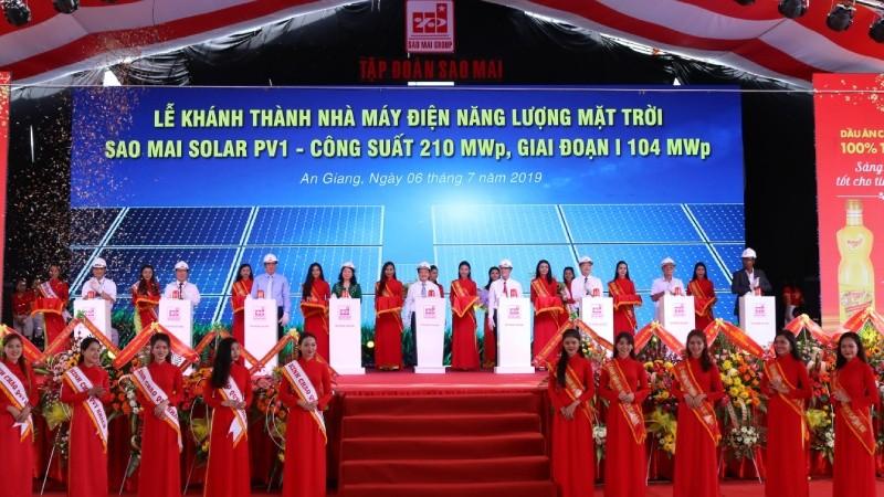 Tập đoàn Sao Mai khánh thành nhà máy điện NLMT Sao Mai Solar PV1