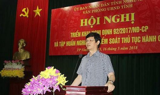 Nghệ An tổ chức tập huấn nghiệp vụ kiểm soát thủ tục hành chính