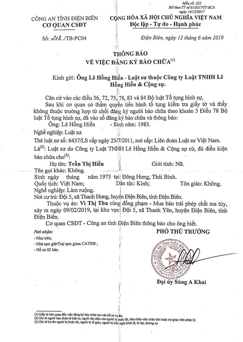 Luật sư Lê Hồng Hiển sẽ bào chữa cho bà Trần Thị Hiền