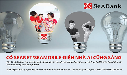 SeABank mở rộng phạm vi thanh toán hóa đơn điện cho khách hàng