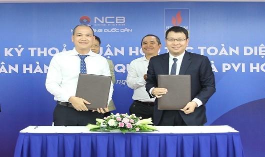 PVI  và NCB ký kết thỏa thuận hợp tác toàn diện