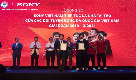 Sony Việt Nam tiếp tục là Nhà tài trợ của các Đội tuyển Bóng đá Quốc gia Việt Nam giai đoạn 2019-3/2021