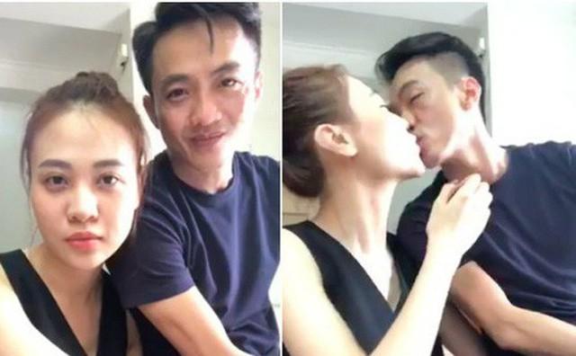 Sốt vì Cường Đô La táo bạo hôn Đàm Thu Trang, hứa hẹn khi nào cưới sẽ livestream - Ảnh 1.