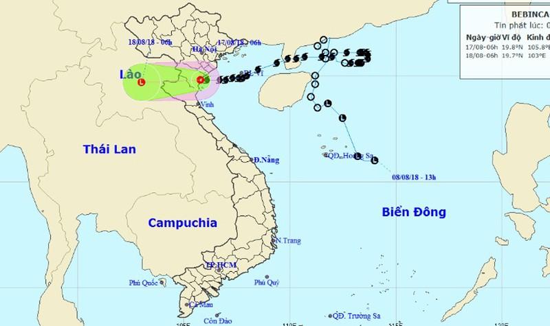 Bão suy yếu thành áp thấp nhiệt đới đổ bộ Thanh Hóa