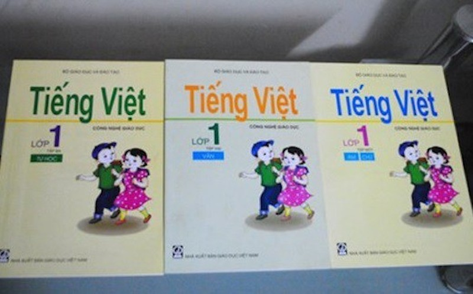 Sách giáo khoa Tiếng Việt lớp 1 theo Chương trình Giáo dục công nghệ. Ảnh: TL
