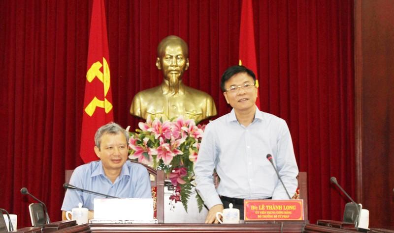 Bộ trưởng Lê Thành Long làm việc với Thường trực Tỉnh ủy Thừa Thiên Huế