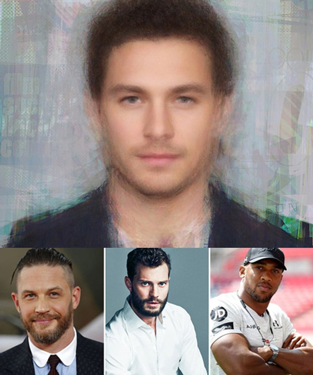 Người đàn ông hoàn hảonhất thế giới là sự pha trộn giữa 3 người nổi tiếng Tom Hardy, Jamie Dornan and Anthony Joshua(từ trái sang).Ảnh: Mens Pharmacy.