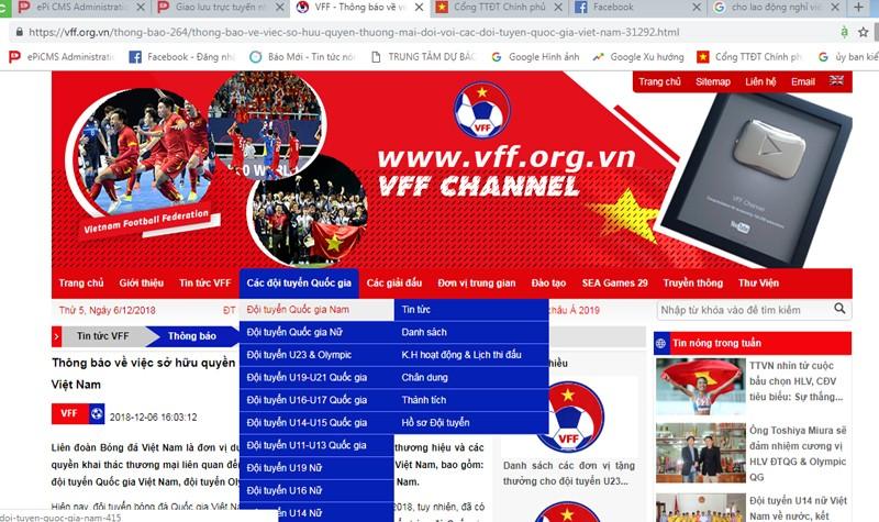 Cảnh báo về việc tùy tiện dùng hình ảnh Đội tuyển Việt Nam