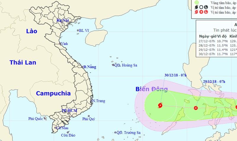 Xuất hiện áp thấp nhiệt đới mạnh khả năng thành bão trên biển Đông