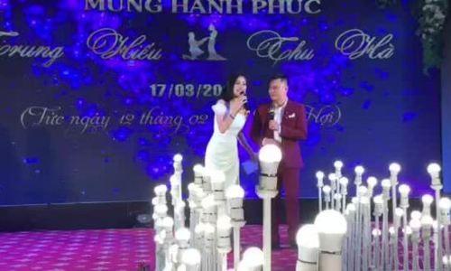 MC Phí Linh và Tự Long dẫn đám cưới NSND Trung Hiếu