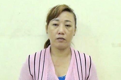 Trịnh Thị Huy tại cơ quan công an. Ảnh: Nguyệt Triều.
