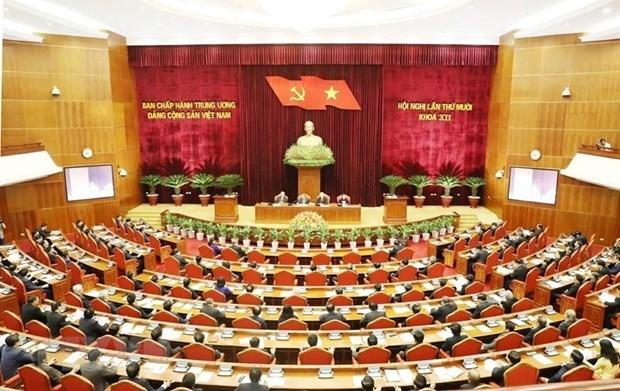 Khai mac Hoi nghi lan thu 10 Ban Chap hanh Trung uong Dang khoa 12 hinh anh 1