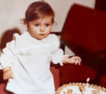 Melania đón sinh nhật một tuổi, ảnh được chia sẻ trên Instagram của chị gái. Ảnh: Australian.