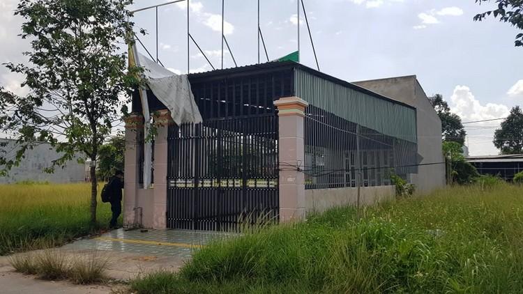 Căn nhà từng được nhóm nghi can thuê ở tại KCN Bàu Bàng. Ảnh: Phước Tuấn