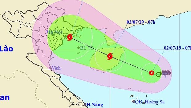 Áp thấp nhiệt đới khả năng mạnh thành bão hướng về Quảng Ninh - Nam Định