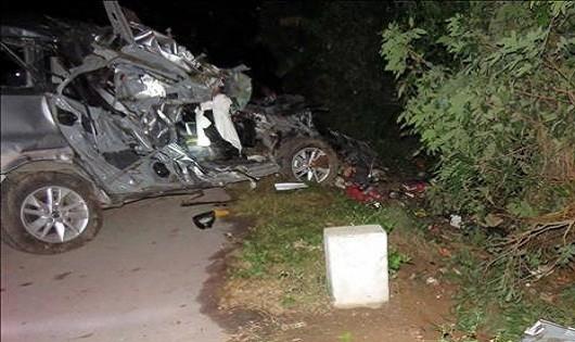 2 người chết, 3 người trọng thương do va chạm xe ở Thái Bình