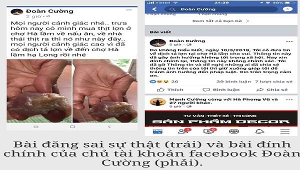 Quảng Ninh: Xử lý chủ tài khoản Facebook đưa thông tin sai sự thật về dịch tả lợn Châu Phi