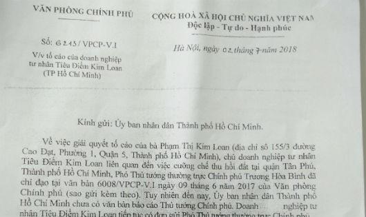 TP HCM: UBND Quận bị tố chậm khắc phục việc cưỡng chế sai pháp luật