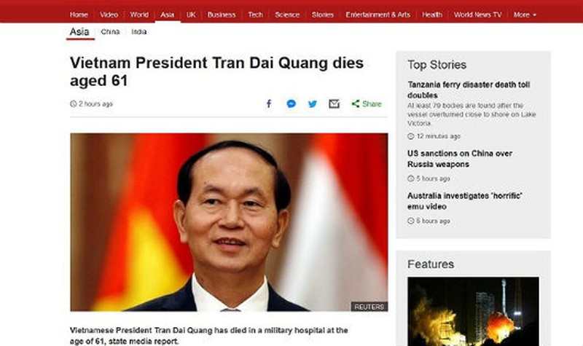 Truyền thông nước ngoài đồng loạt bày tỏ lời chia buồn với Việt Nam