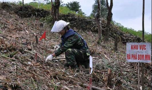 Kêu gọi các nguồn lực để rà phá bom mìn tại Quảng Trị