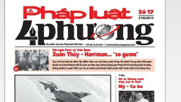 Thông báo về việc cải tiến ấn phẩm Báo Pháp luật Việt Nam