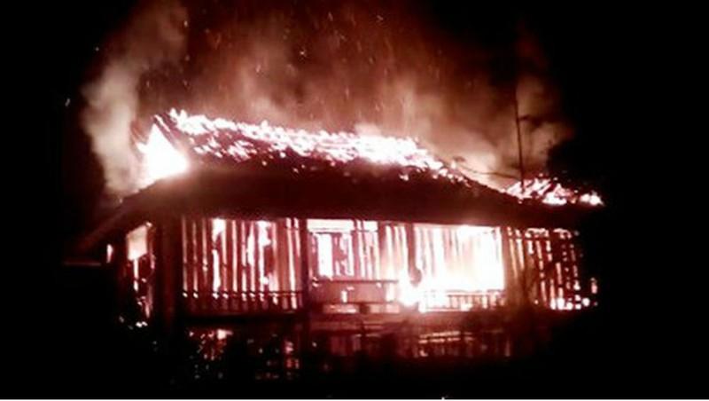Nghi án vợ phóng hỏa đốt chồng trong đêm