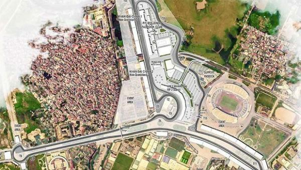 Hà Nội phê duyệt quy hoạch chi tiết đường đua F1