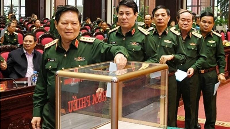 Quân ủy Trung ương tổ chức lấy phiếu tín nhiệm