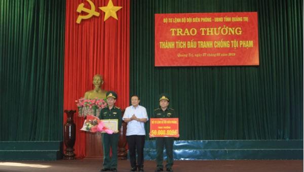 Trao thưởng 50 triệu đồng cho Bộ đội Biên phòng tỉnh Quảng Trị