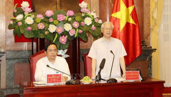 Tổng Bí thư, Chủ tịch nước Nguyễn Phú Trọng: Không thể để đạo đức xã hội xuống cấp!