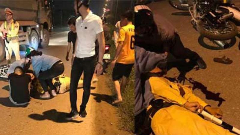 Thiếu tá CSGT Hà Nội bị nam thanh niên tông rách trán