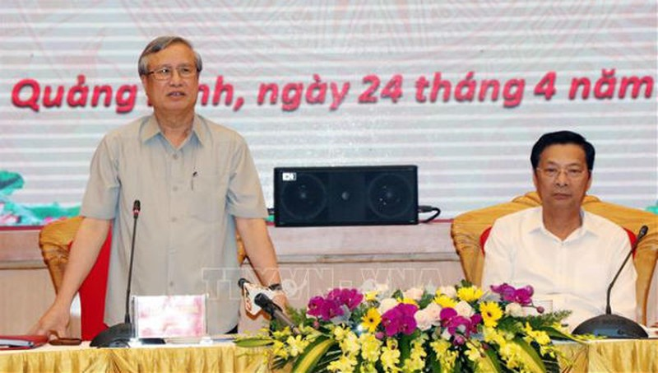 Thường trực Ban Bí thư lưu ý Quảng Ninh tiếp tục quan tâm xây dựng Đảng