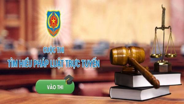 Thi 'Tìm hiểu pháp luật trực tuyến' năm 2019