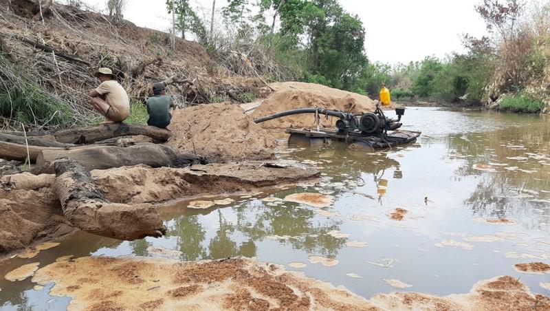 'Cát tặc' hoành hành vùng giáp ranh Đắk Lắk - Gia Lai
