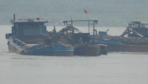 Phúc Thọ (Hà Nội): 'Đại công trường' trộm cát trên sông Hồng