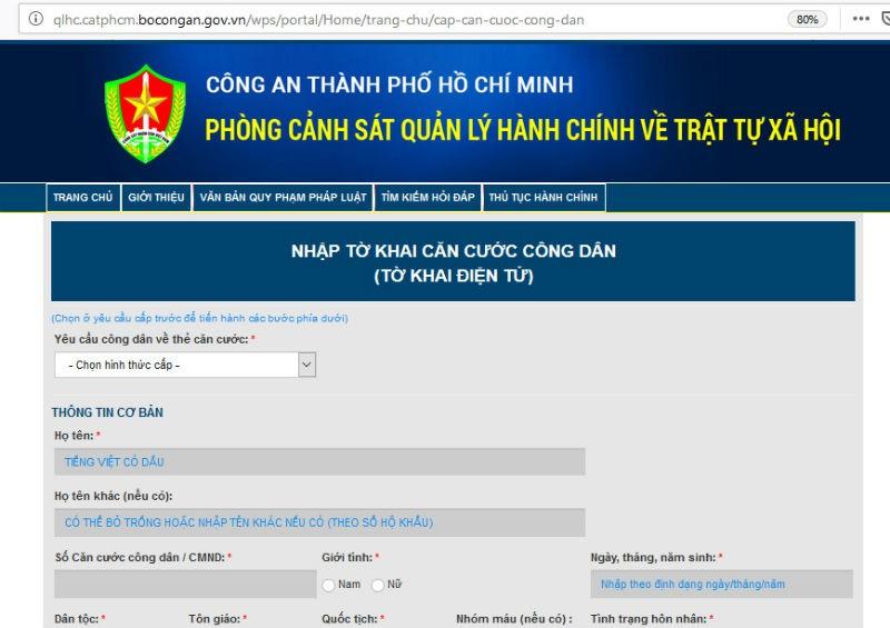TP HCM triển khai đăng ký cấp thẻ căn cước công dân qua mạng