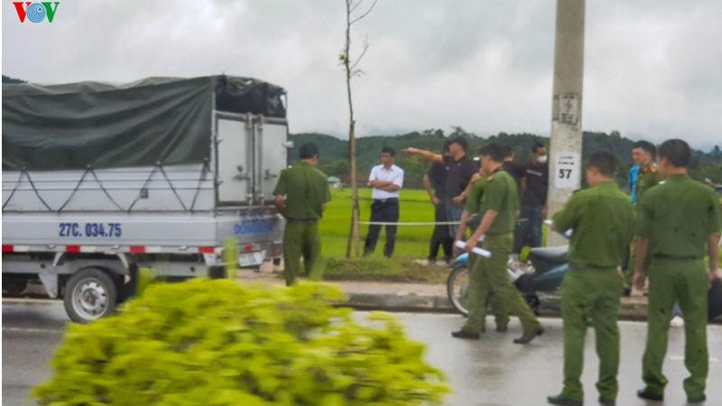 Thực nghiệm hiện trường vụ sát hại nữ sinh giao gà ở Điện Biên - Ảnh 1