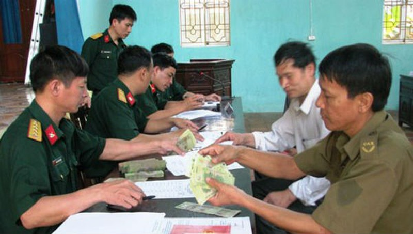 Điều chỉnh trợ cấp hàng tháng đối với quân nhân đã phục viên, xuất ngũ, thôi việc