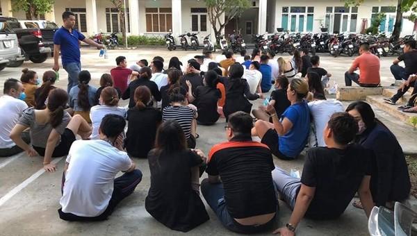 Phát hiện 58 nam, nữ phê ma túy trong quán karaoke ở Đà Nẵng