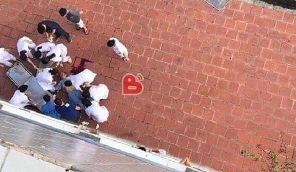 Nam bệnh nhân tử vong do rơi từ tầng 6 Bệnh viện đa khoa Đức Giang xuống đất