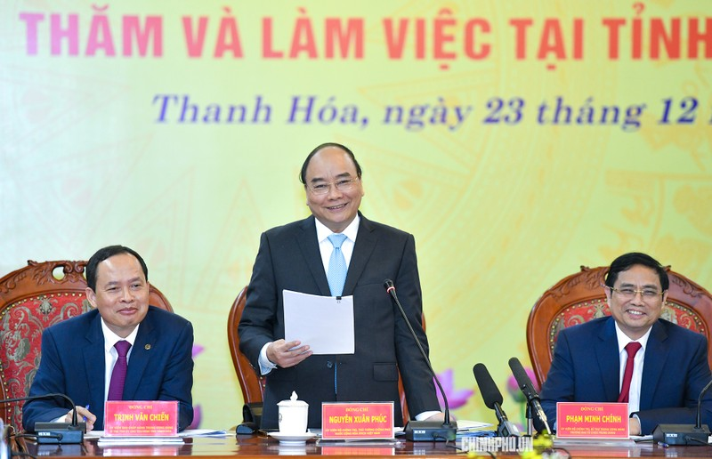 Thủ tướng làm việc với lãnh đạo chủ chốt tỉnh Thanh Hoá